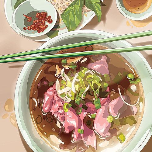 Anime-styled pho by Mike. Photo by MSG/Mike.