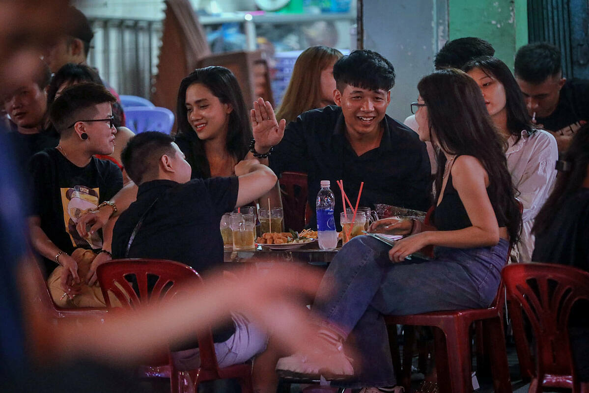 Without face masks, customers gather in crowds to drink beer. Though the government allowed the resumption of business services to revive the tourism and economy, people are still advised to wear face masks and use hand sanitizers in public places.