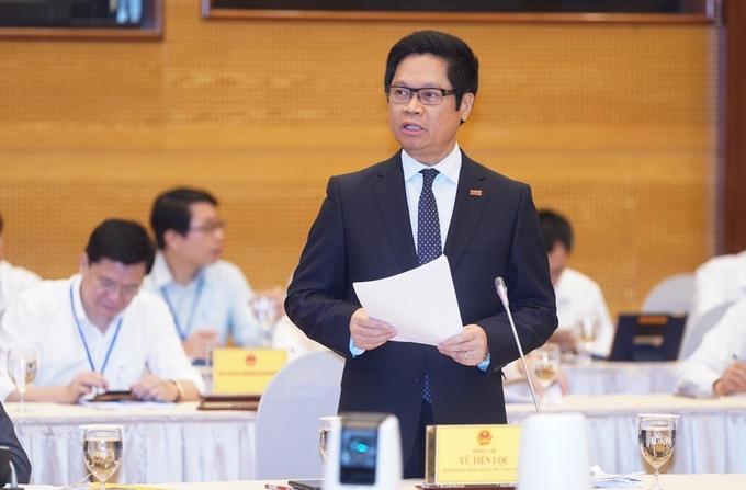Ông Vũ Tiến Lộc, Chủ tịch VCCI, tại hội nghị sáng 9/5. Ảnh:Quang Hiếu.