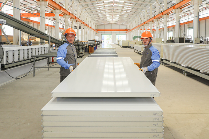 PhuongNamsfireproof panel factory at N5 Street,Cu Chi Industrial Zone, HCMC. Photo by VnExpress/QuynhTran.