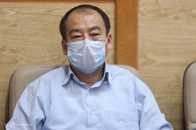 Tran Dac Phu, a senior advisor at the Public Health Emergency Operations Center. Photo by VnExpress/GiaChinh.