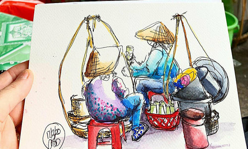 Australian artist drawn to Hoi An paints its charms
