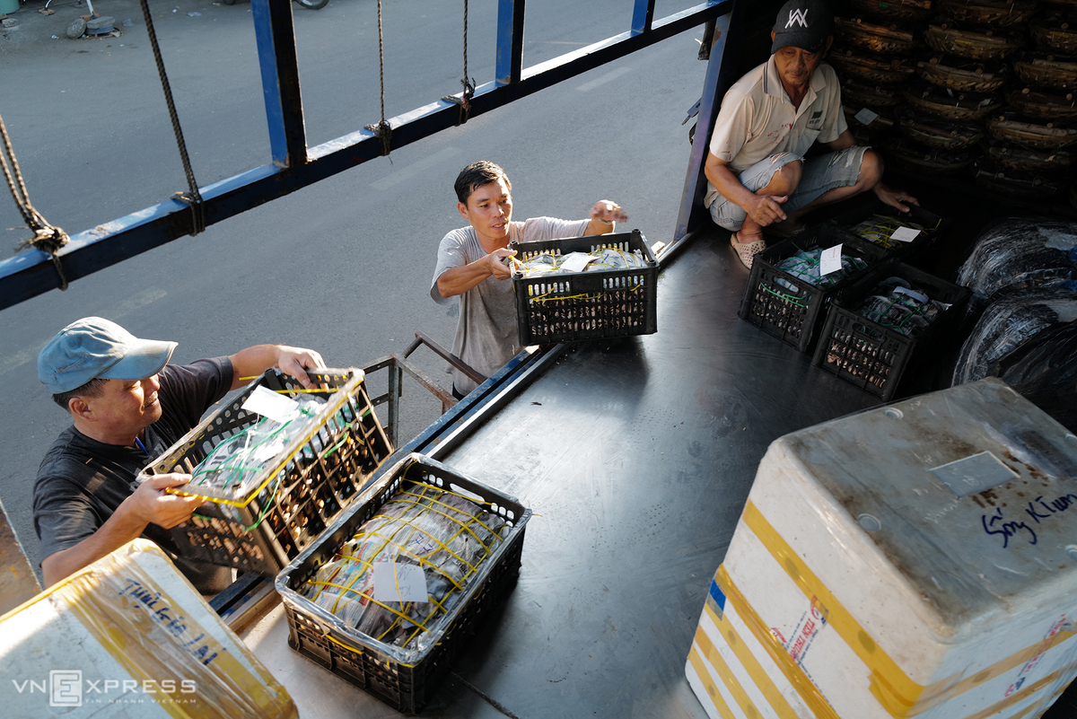 Boiled fishes are delivered to other places, including the Central Highlands.