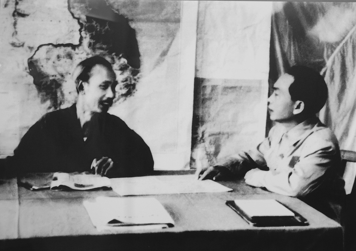 A picture of President Ho Chi Minh and General Vo Nguyen Giap on December 6, 1953 as the president assigned the general on leading the Battle of Dien Bien Phu against the French, which saw Vietnam on the winning side on May 7, 1954.