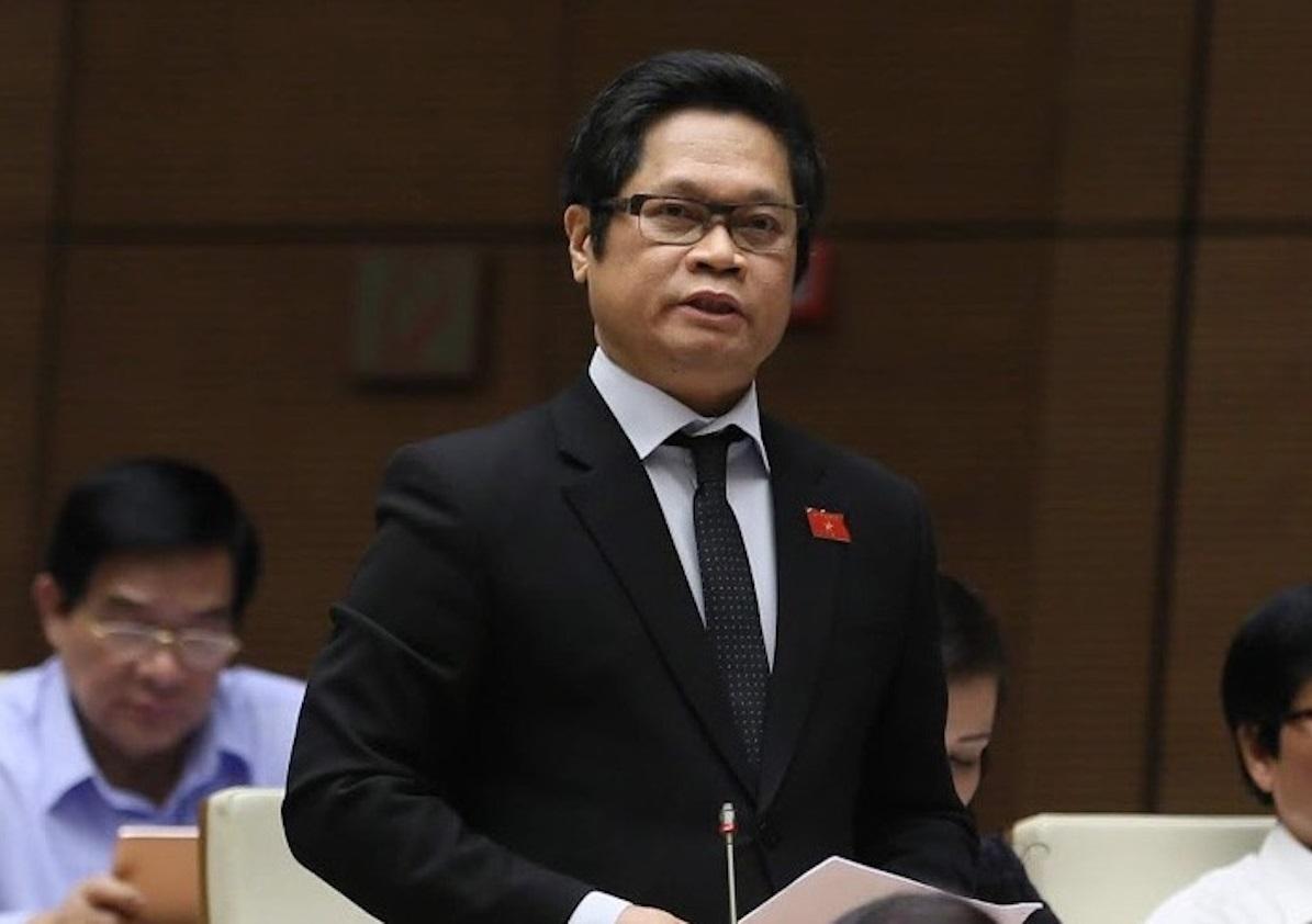 Vu Tien Loc at the National Assembly on May 20. Photo by VnExpress/Tran Giang.