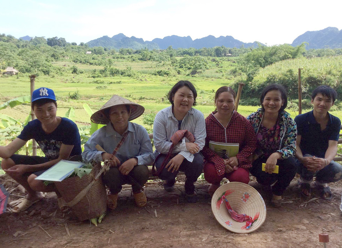 Mayu (third from left) in northern Hoa Binh Province in 2015. Photo courtesy off Mayu.