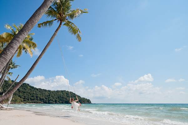 Bai Sao, one of the most beautiful and well-known beaches onPhu Quoc Island.