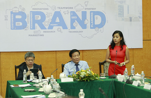 Tran Uyen Phuong was speaking at an event about brand building.