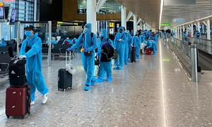 337 Vietnamese stranded in UK fly home