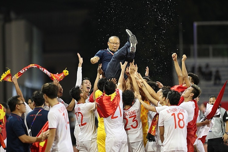 On December 10 2019, Vietnam won their first ever SEA Games gold as the U22 men's team romped to a 3-0 win against Indonesia.Photo by VnExpress/Duc Dong