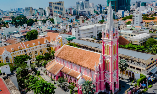 Saigon's Tan Dinh Church a top world pink spot