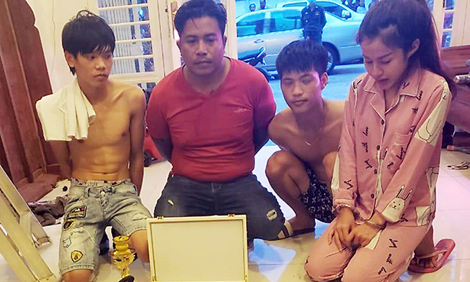 Six arrested in Cambodia for cross border drug trafficking