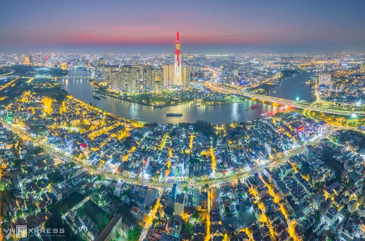 Vietnam By Night An Aerial View Vnexpress International