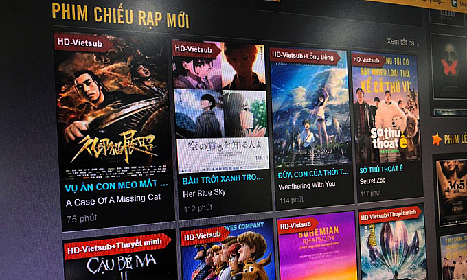 Many websites put on false HD and Vietsub marks to attract viewers.