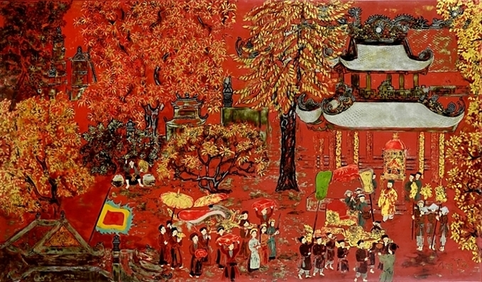 New Year Festival by Vietnamese artist Nguyen Gia Tri. Photo courtesy of PI Auction House.