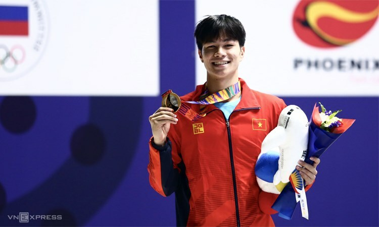 Tran Hung Nguyen won his first SEA Games gold in December 5, 2019. Photo by VnExpress/Pham Duong.