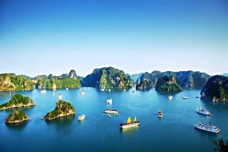 Ha Long Bay is one of Vietnams most prominent tourist destinations.