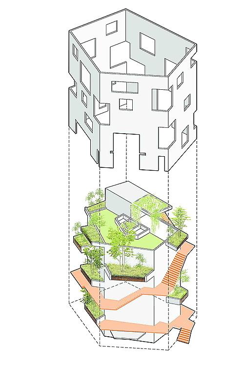 The villa blueprint.