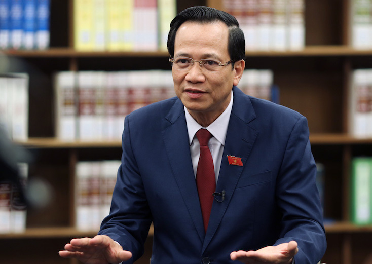 Minister of Labor, Invalids and Social Affairs Dao Ngoc Dung. Photo by VnExpress/Vo Hai.