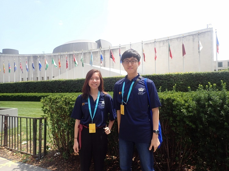 Ha Minh (left) & Sung Woo (right) were BIS Hanoi's Student Ambassadors at the NAE-UNICEF Student Summit in New York.