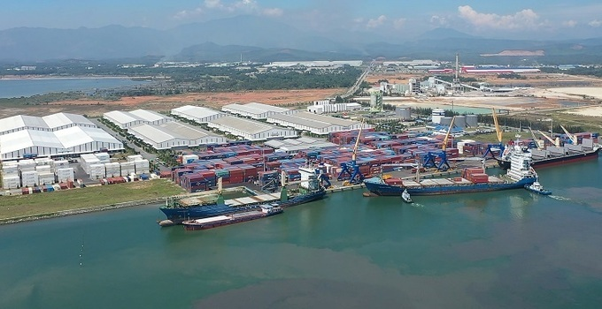 Ships arrived Chu Lai port to deliver trailers to the U.S.