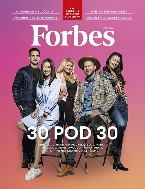 Lucia Thao Huong Simekova (left) and other young entrepreneurs are featured on the cover of Forbes magazine in Slovakia. Photo courtesty of Forbes Slovakia.
