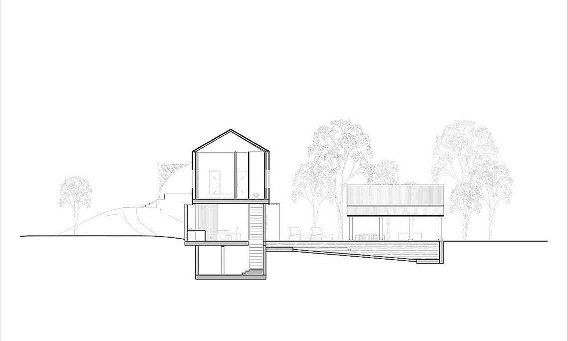 Cross section of the house.
