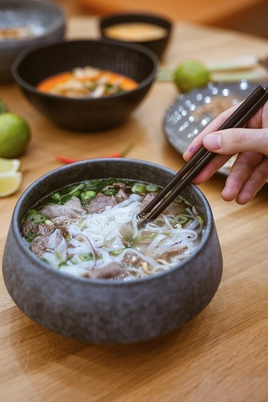 A bowl of pho at Huongs restaurant. Photo courtesy of Lucia Thao Huong Simekova