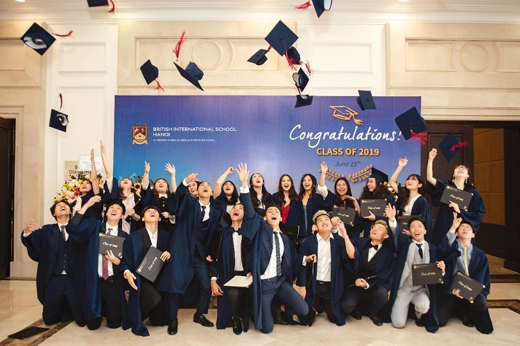 BIS Hanoi's Class of 2019 at their Graduation Ceremony.