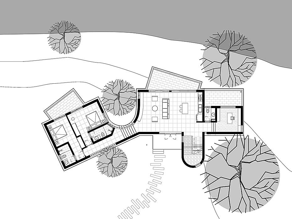 Second floor blueprint.