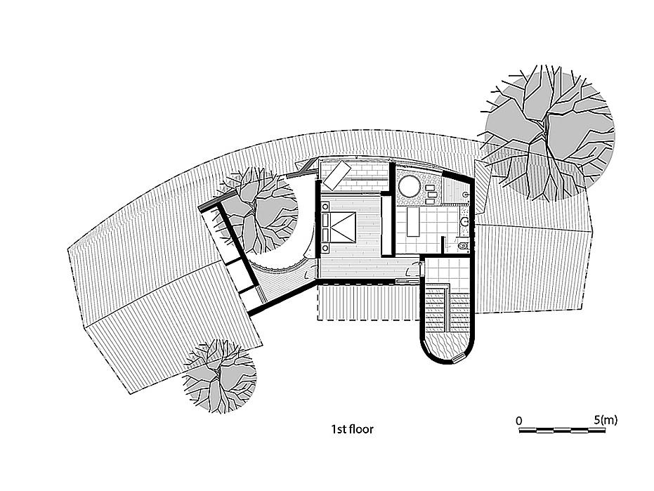 First floor blueprint.