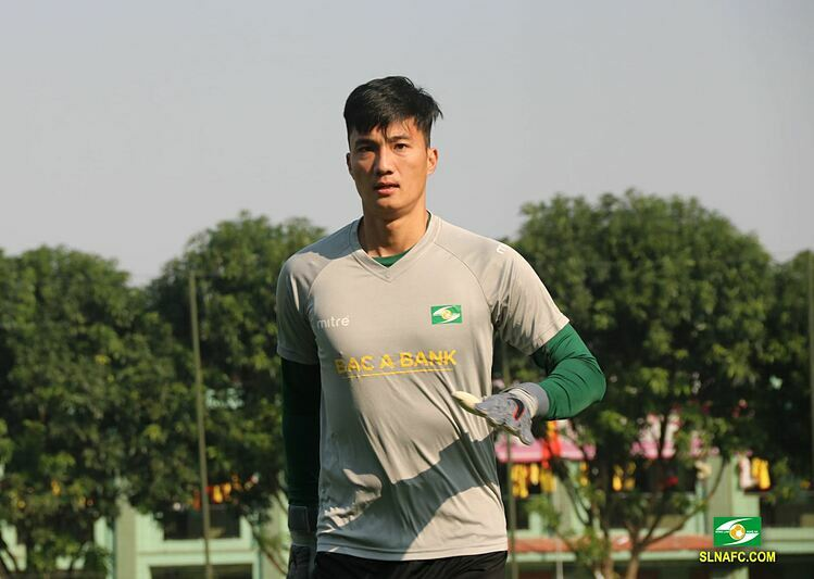 Nguyen Van Hoang in Song Lam Nghe An jersey. Photo courtesy of SLNA.