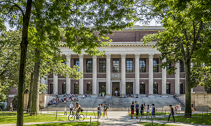 Harvard University, one of the institutions holding online classes this Fall. Photo by Photostock/Marcio Jose Bastos Silva.