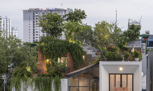 Saigon house features rooftop 'park'
