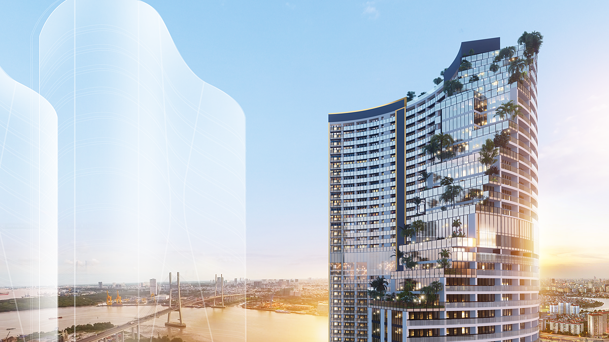 Project developer Sunshine Group is devoted to creating a riverside 4.0 Urban Resort Complex, with 5-star facilities and high-class services, giving the elite community a trendy and luxurious residence.As an iconic skyrise with renowned architecture beside Saigon River in Dao Tri Street, District 7, Babylon Tower takes its design from Greek legends of the Hanging Gardens of Babylon - a wonder of the ancient world. The ascending terraced gardens are planted with various trees, vines, and flowers, creating a poetic beauty and refreshing living space.