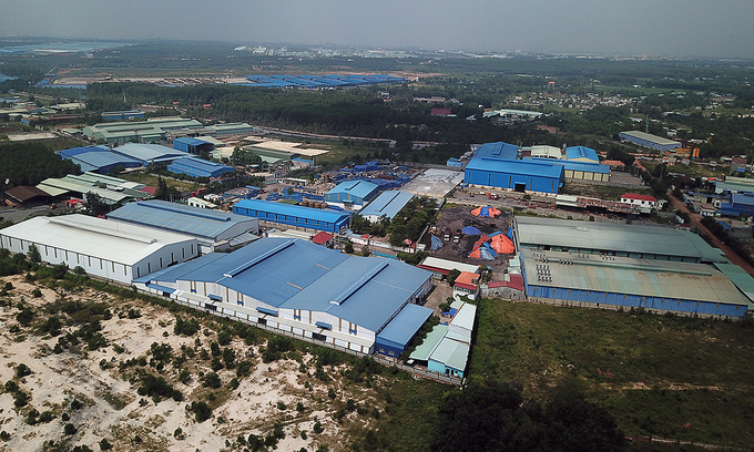 Illegal industrial park intrudes on southern Vietnam forest land