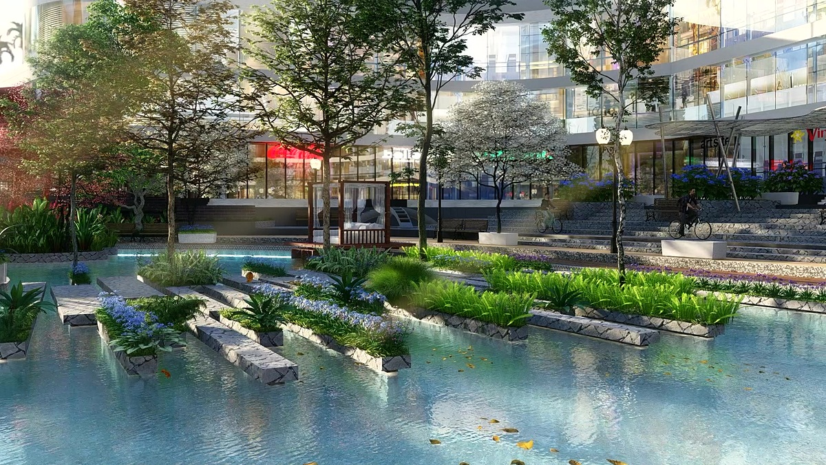 Within a few steps, residents have the opportunity to tread through tropical gardens, pristine adriatic ponds, meditation gardens... are all arranged to display the exuberant qualities of the garden area. Residents will also have the doorstep convenience 'Shopping in the Park', boasting trendy shops, boutiques and other luxury retails outlets.