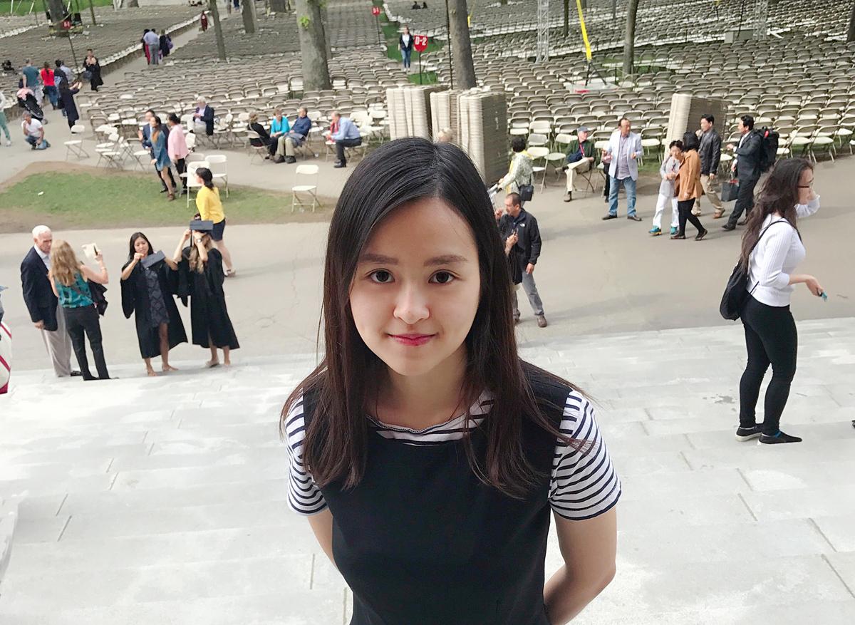 Hien Anh at Harvard University. Photo courtesy of La Thanh Ha.