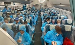Vietnam brings 129 Covid-19 patients home from Equatorial Guinea