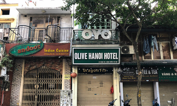 Hanoi's Old Quarter reels under Covid-19 blows