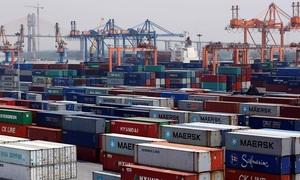 Seven-month trade surplus triples