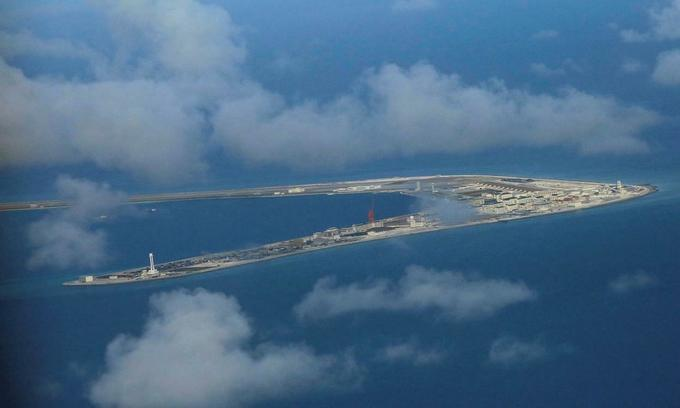 Vietnam protests China's military drill on Spartly reefs