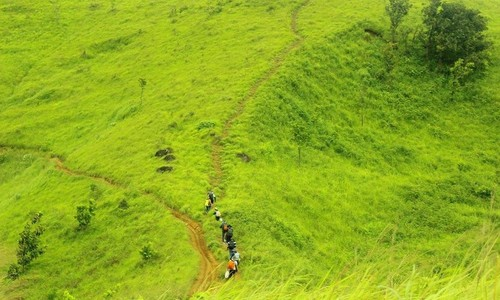 On difficult but beautiful trekking route Ta Nang-Phan Dung