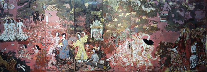 Vuon Xuan Trung Nam Bac (Spring Garden of Center, South and North) by Nguyen Gia Tri.