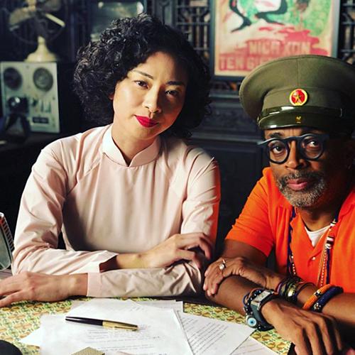 Ngo Thanh Van and Spike Lee on set. Photo courtesy of Spike Lee.