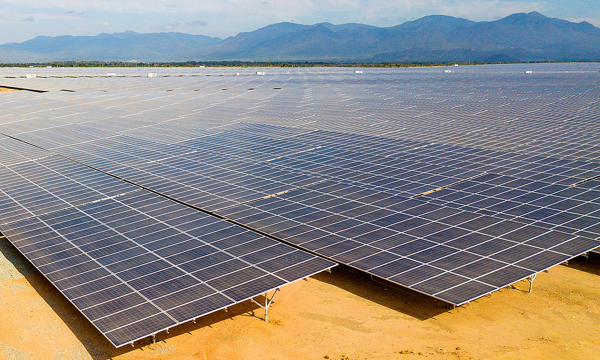 Solar panels at a plant in Ninh Thuan Province in south central Vietnam, August 2019. Photo by VnExpress/Quynh Tran.