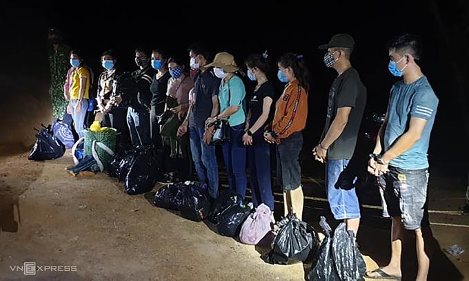 13 Vietnamese caught sneaking into Laos