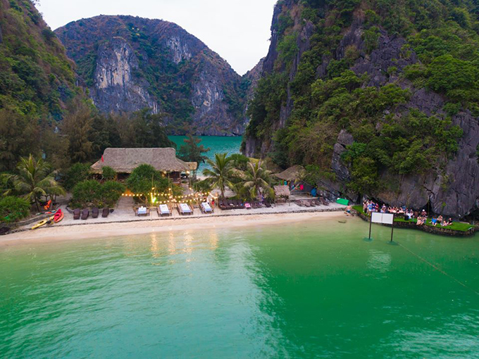The Freedom Island is a lesser-known destination in northern Vietnam. Photo courtesy of tour agent Freedom Island Paradise.