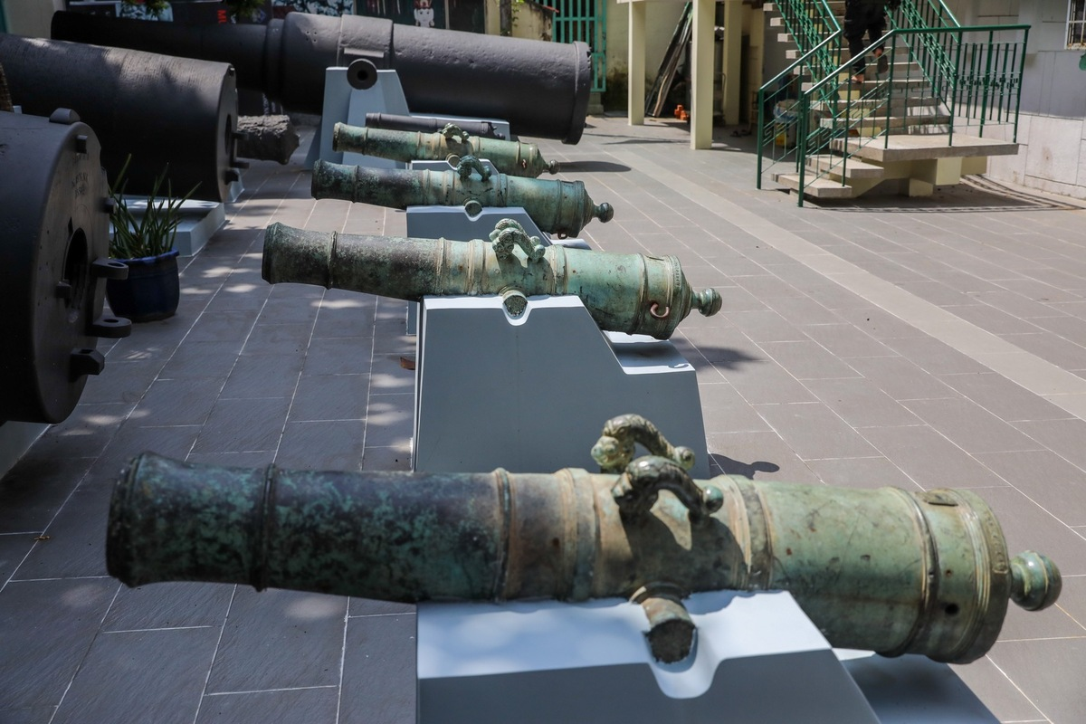 Saigon cannon collection bursts with history