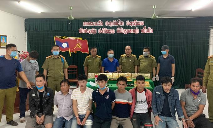 Eight Lao men caught carrying 10 kg meth into Vietnam
